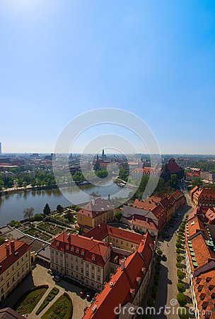 Island Tumski in Wroclaw, Poland