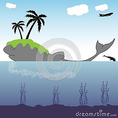 Island on a whale