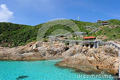 Island and Windturbine