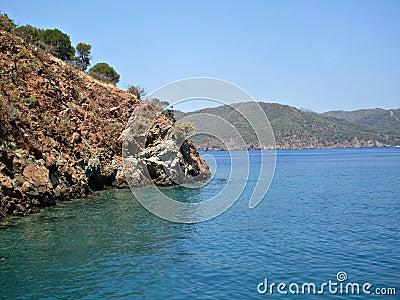 Islands in Mediterranean sea Turkey