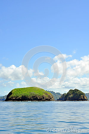 Islands off the coast of Costa Rica