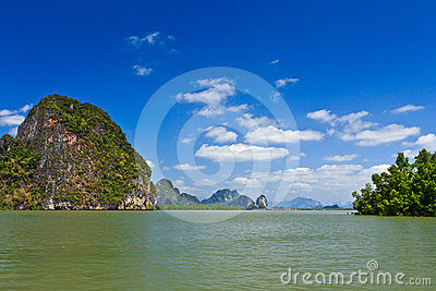 Islands in a Phang Nga Bay
