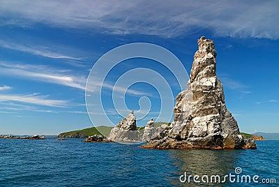 Islands of sea of Japan