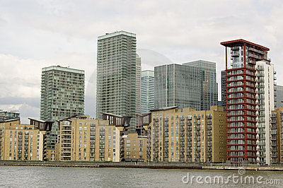 Isle of Dogs, viewed from the River Thames