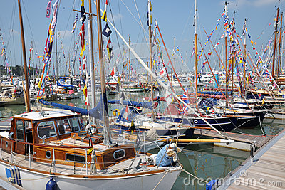 Isle Of Wight sailing boats Editorial Stock Photo