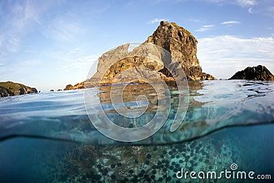 Islet in sea of japan