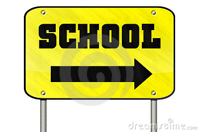 Isloated school sign
