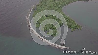 Isola aerea dalla cima video d archivio