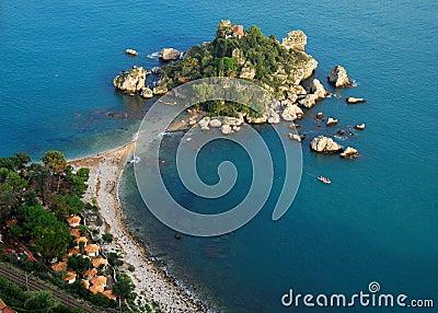 Isola Bella in Taormina (Sicily, Italy)
