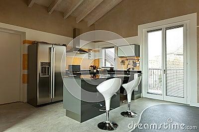 Isola di cucina con due sgabelli fotografia stock libera da diritti immagine 23006105 - Sgabelli per isola cucina ...