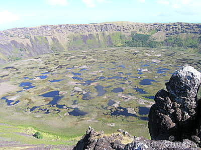 Isola di pasqua - vulcano delle KUCI di Rano