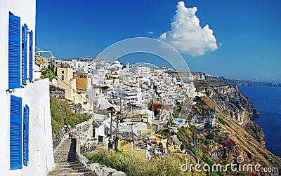 Isola di Santorini, città di Fira