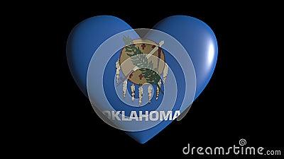 Isolat de pulsate cardiaque de l'Oklahoma sur boucle d'arrière-plan transparente, canal alpha illustration stock