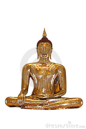 Free Isolate Of A Pure Gold Buddha, Thailand Stock Photo - 14945680