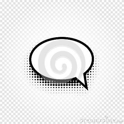 Free Isolated Abstract Black And White Color Comic Speech Balloon Icon On Checkered Background, Dialogue Box Sign, Dialog Royalty Free Stock Image - 91335746