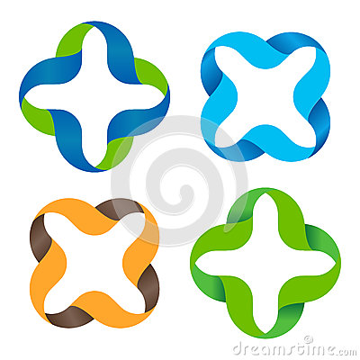 Free Isolated Abstract Colorful Cross Vector Logo Set. Outlined Plus And Multiplication Signs Collection. Medical Icons Group Royalty Free Stock Images - 79489419