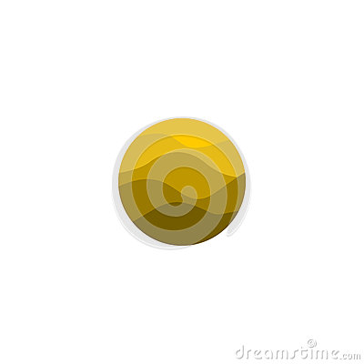 Free Isolated Abstract Yellow Color Round Shape Logo. Desert Logotype. Sand Image. Mountains Icon. Wavy Lines Element. Vector Royalty Free Stock Images - 79474729