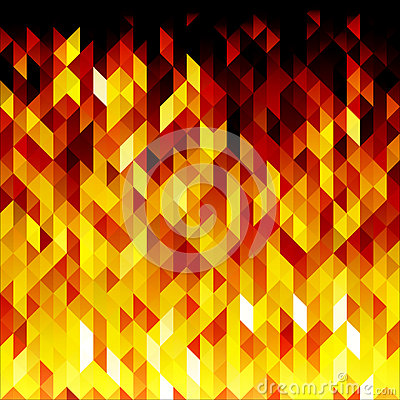 Isolated abstract yellow lowpoly vector background. Polygonal fire backdrop. Vector Illustration