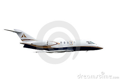 Isolated aircraft on white