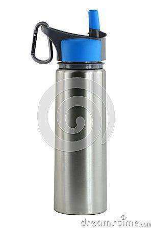 Free Isolated Aluminum Water Bottle Royalty Free Stock Photos - 12823218