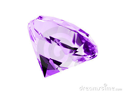 Isolated Amethyst Jewel