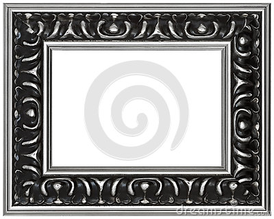 Isolated Antique Designer Picture Frame