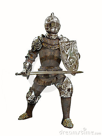 Isolated antique knight