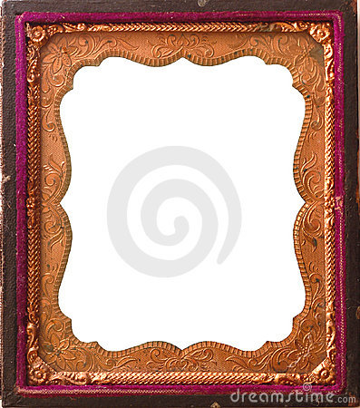 Isolated Antique tintype frame
