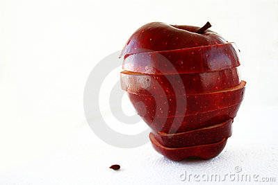 Isolated apple in layers