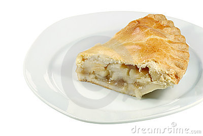 Isolated apple pie