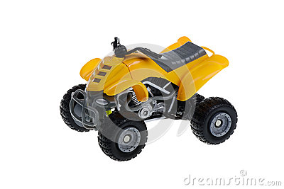 Isolated ATV Four Wheeler Quad Motorcycle Toy