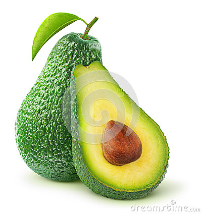 Free Isolated Avocado Royalty Free Stock Photography - 33457067
