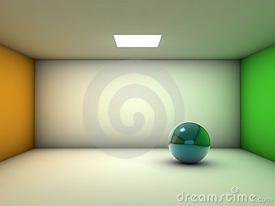 Isolated ball in empty room