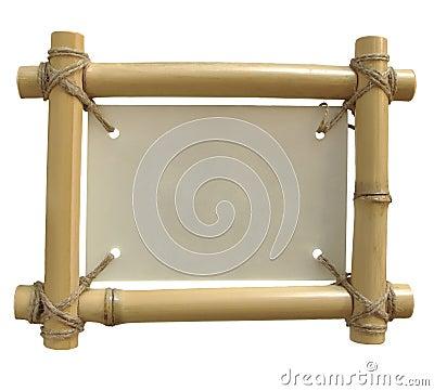 Free Isolated Bamboo Frame Royalty Free Stock Photo - 7015915