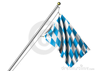 Isolated Bavarian Flag