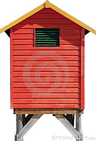 Free Isolated Beach Hut Royalty Free Stock Images - 23009619
