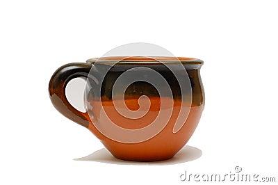 Isolated beer mug