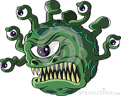 Isolated beholder monster