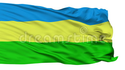 Isolated Belchatow city flag, Poland. Belchatow flag, city of Poland, realistic animation isolated on white seamless loop - 10 seconds long alpha channel is stock video