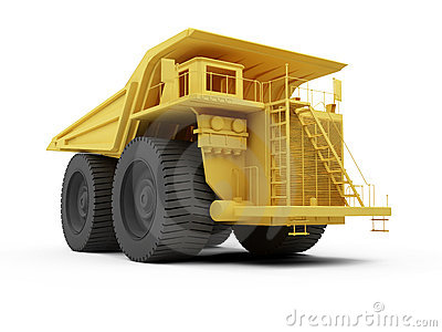 Isolated big dump truck
