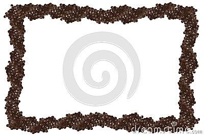 Isolated black caviar frame