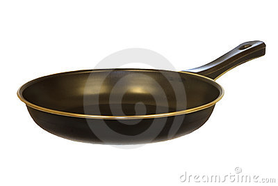 Isolated Black Frying Pan v1