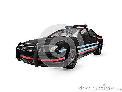 Isolated black police car