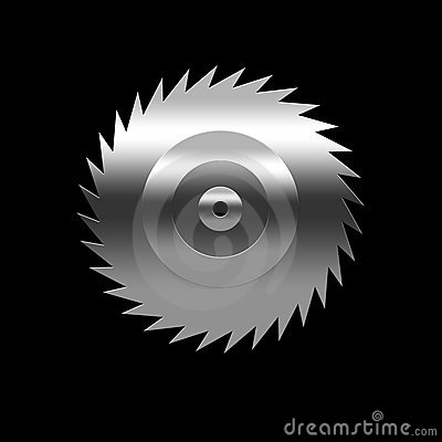 Isolated blade of saw