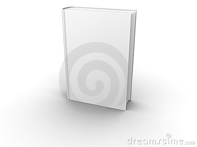 Isolated blank book front