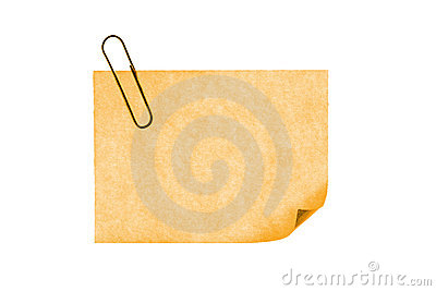 Isolated blank postit paper on withe background