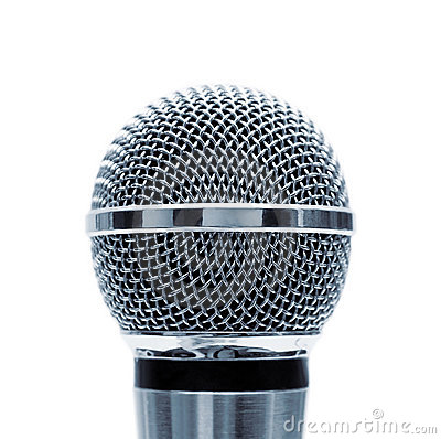 Free Isolated Blue Microphone Royalty Free Stock Photos - 19390058