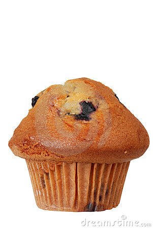 Isolated Blueberry Muffin Stock Photo Image 23465320
