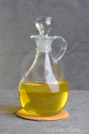Isolated bottle with olive oil
