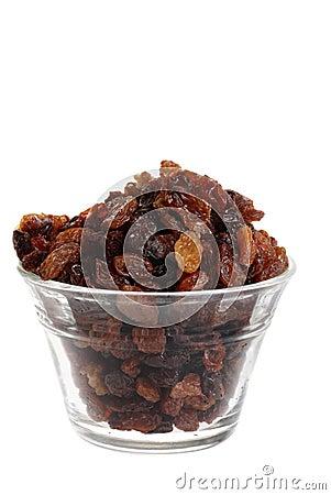 Free Isolated Bowl Of Raisins Stock Image - 14400061